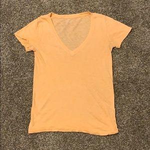 J Crew Vintage Cotton v-neck tee size XXS